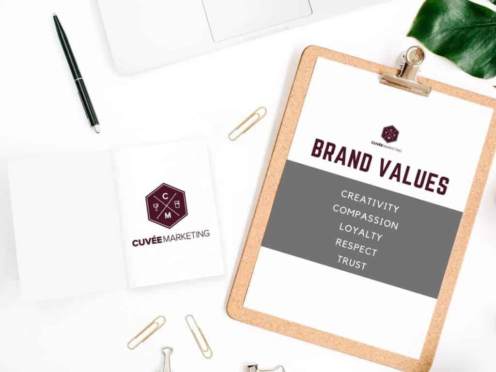 Cuvee Marketing Brand Values