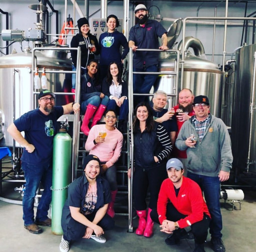Pink Boots Society Brew Day at Blaker Brewing